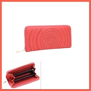 Coral Swirl Cutout Wallet